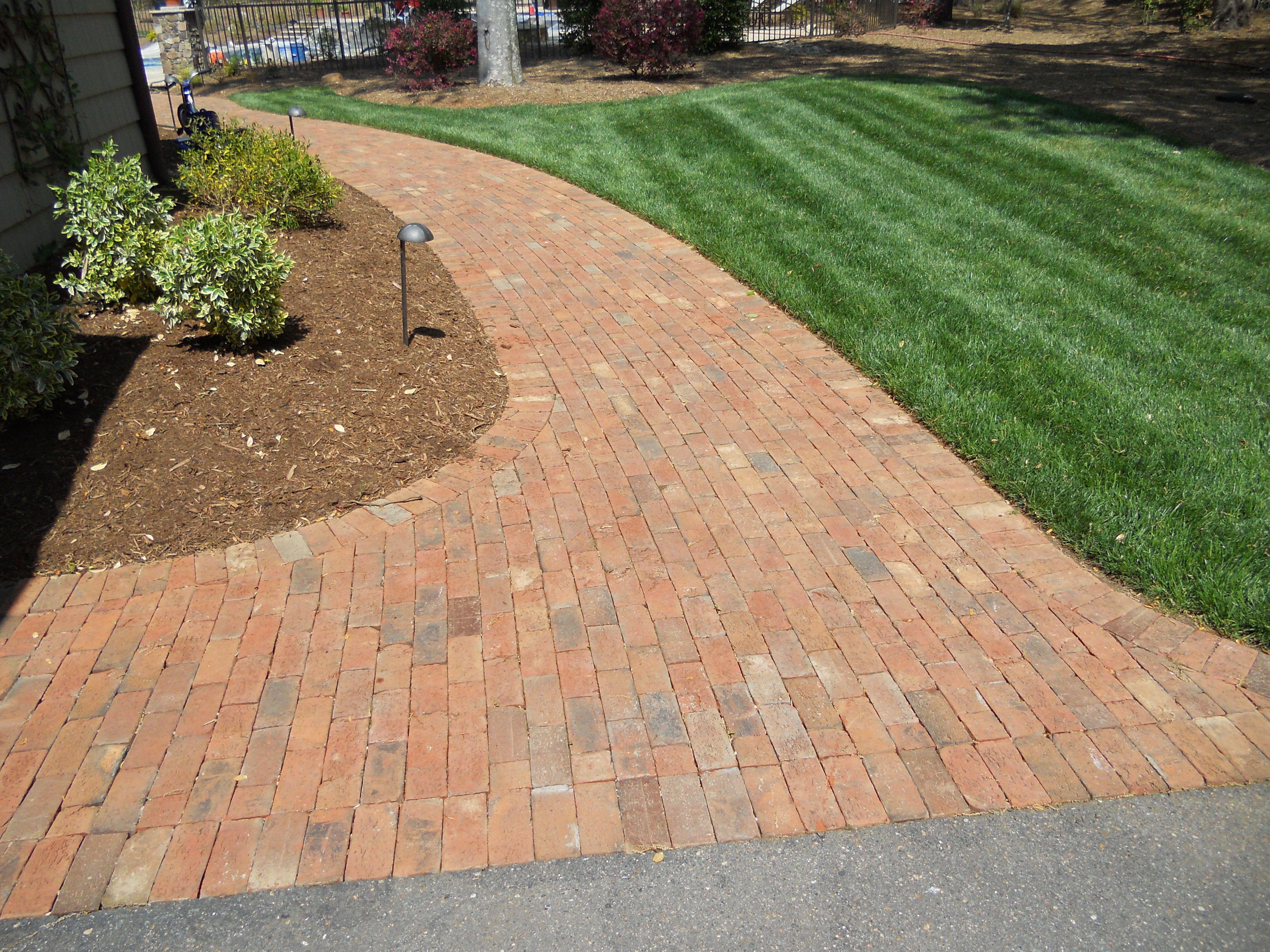 brick sidewalk | brick paver walkway | design ideas | pinterest
