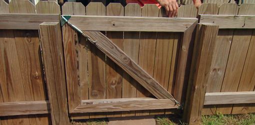Wooden Fence Gates Tend To Sag Over Time Due To Exposure