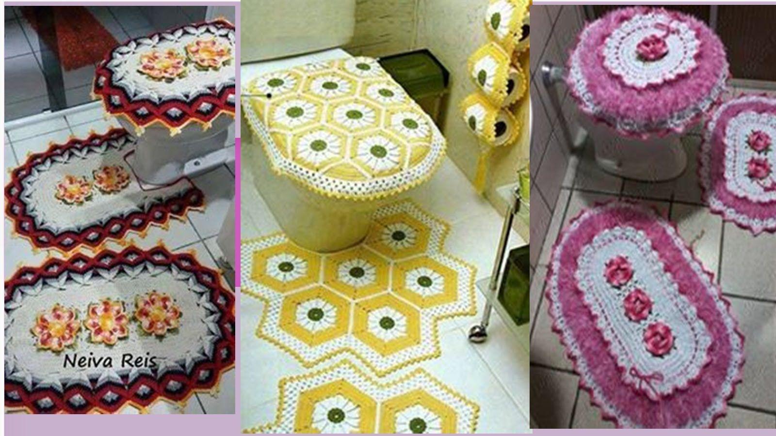 Como hacer un juegos de ba os tejidos a crochet nuevos for Como disenar un bano
