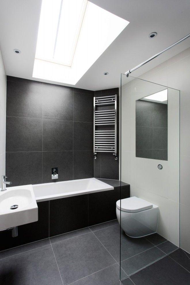 Badzimmer wohnen Pinterest Badezimmer, Steakhaus und Moderne - badezimmer schwarz weiß