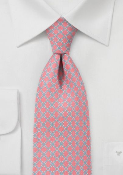 aa780aefd40c Criss-Cross Patterned Necktie in Light Coral   Bows-N-Ties.com ...