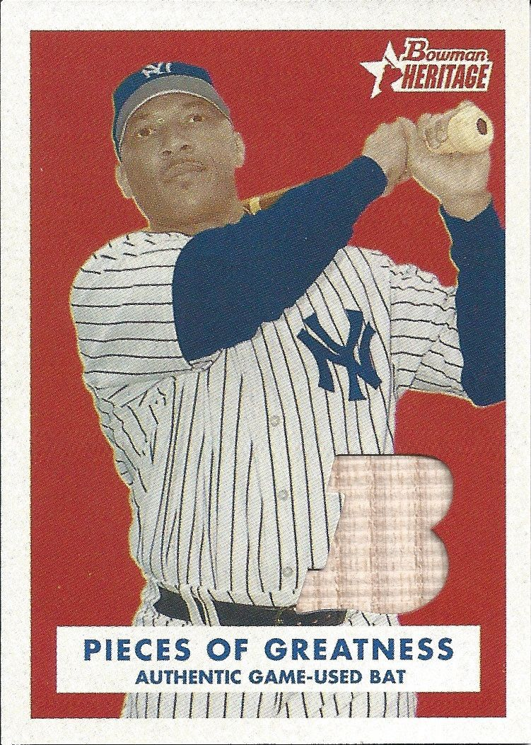 2006 Topps Bowman Heritage New York Yankees Gary Sheffield (Game Used Bat Relic Card)