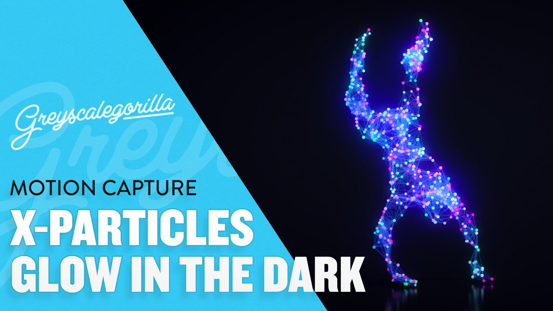 X-Particles Tutorial - How To Make A Glow In The Dark
