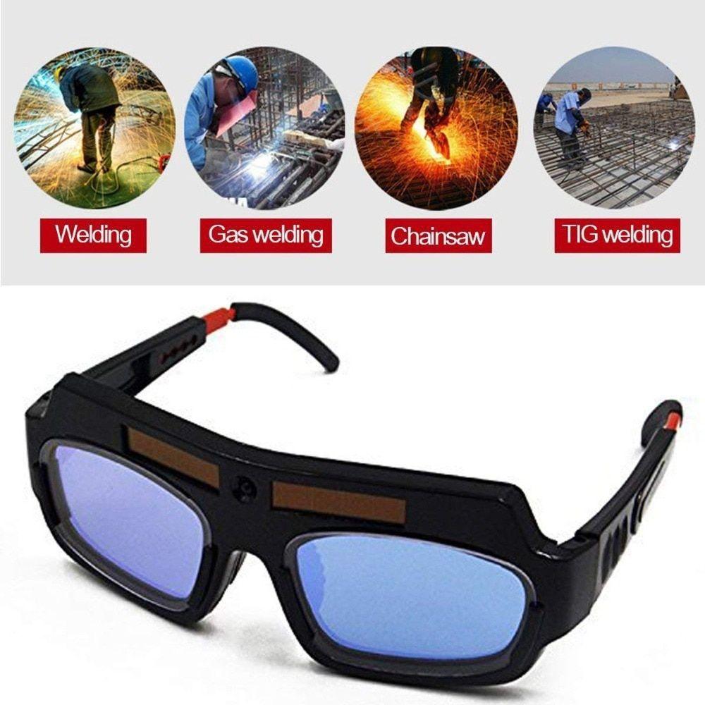 Solar auto darkening welding goggle safety protective