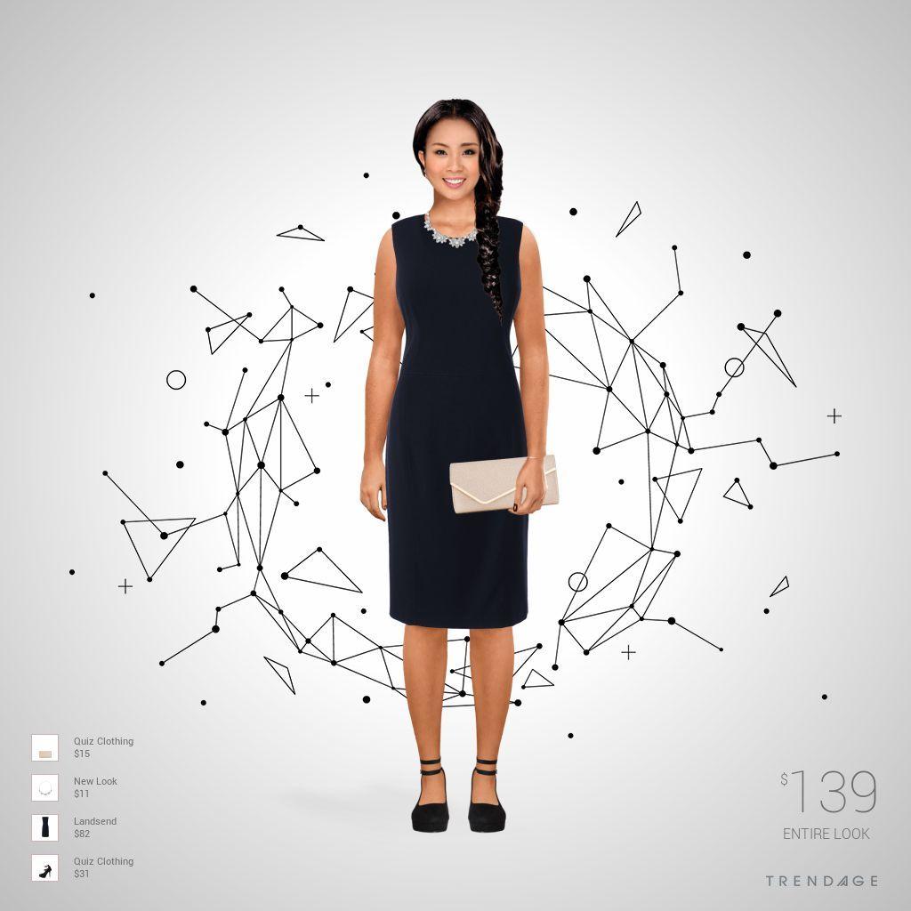 equipo de la manera hecha por Natalia el uso de ropa de New Look, Landsend, Quiz Clothing. Estilo hecho en Trendage.