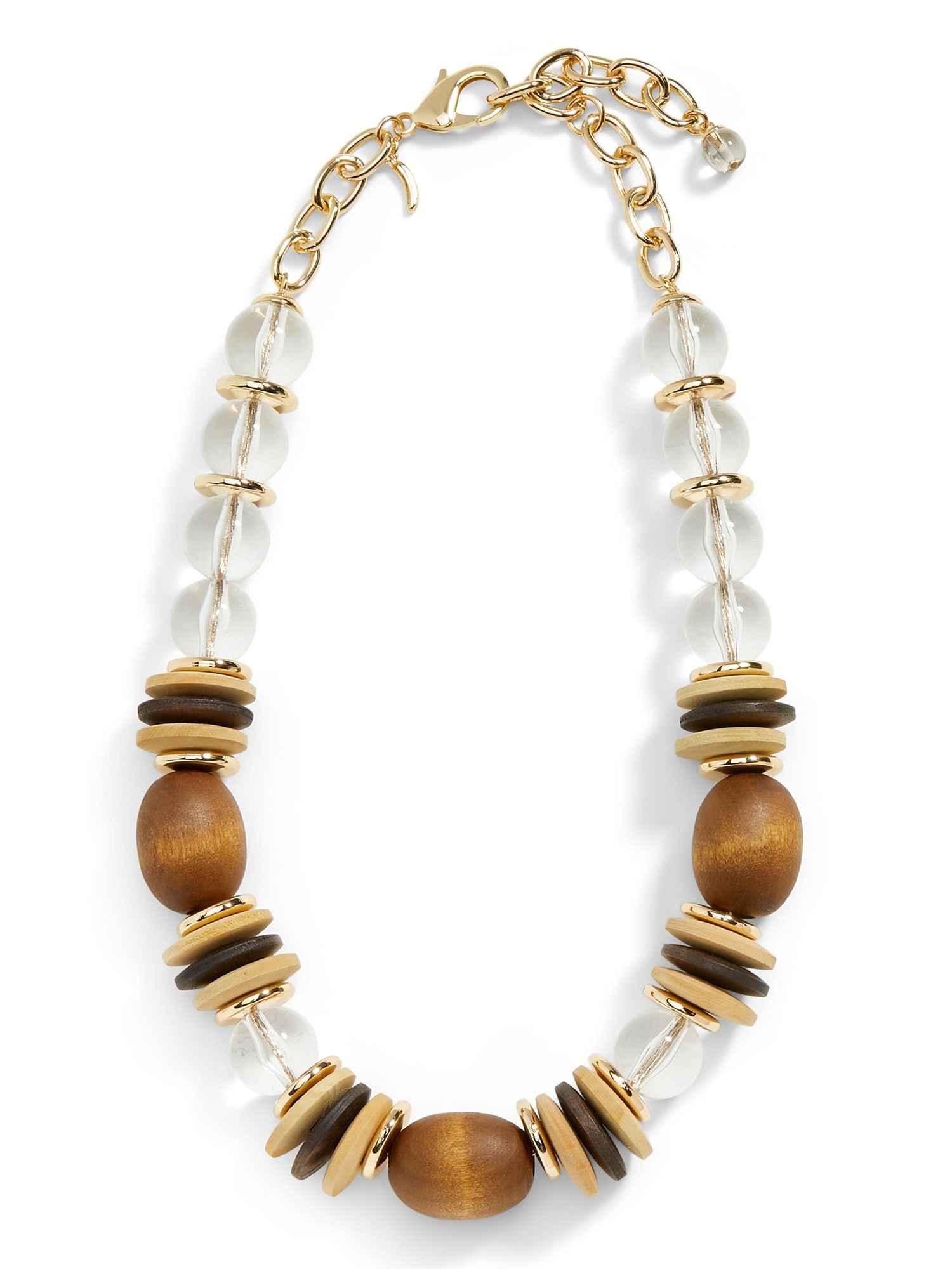 Statement Necklace Festival Necklace Gifts for Her Wood Necklace Festival Jewelry Beaded Jewelry Beaded Necklace Gemstone Necklace