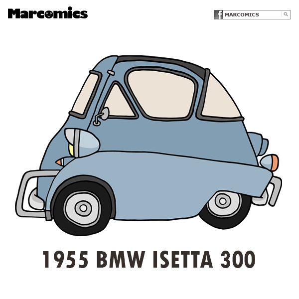 1955 BMW Isetta 300 | Marcomics | Pinterest | BMW, Dream garage and Cars