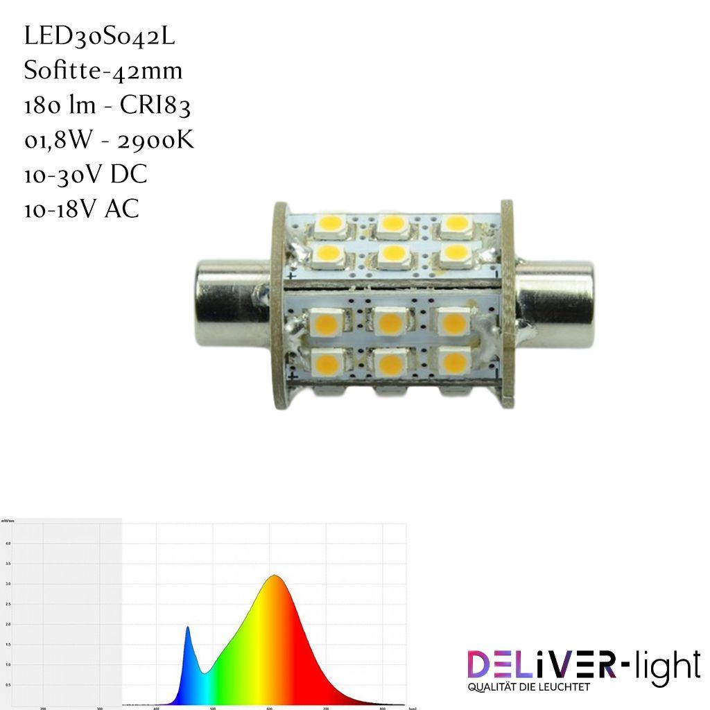 Led30so42l Led Leuchtmittel Soffitte 42mm In 2020 Led Leuchtmittel Lichtstrom