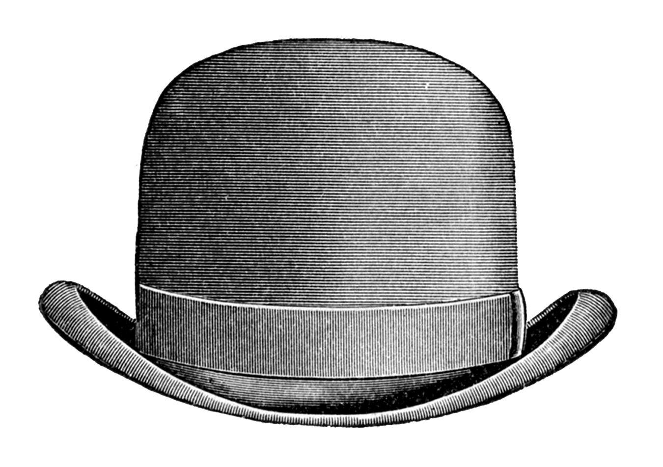 0059ee56165398 1930s men's hat styles. vintage clip art - men's hats