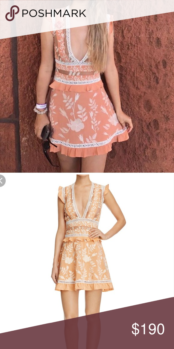 For Love And Lemons Mia Mini Dress Lovely Coral Mini Dress By For