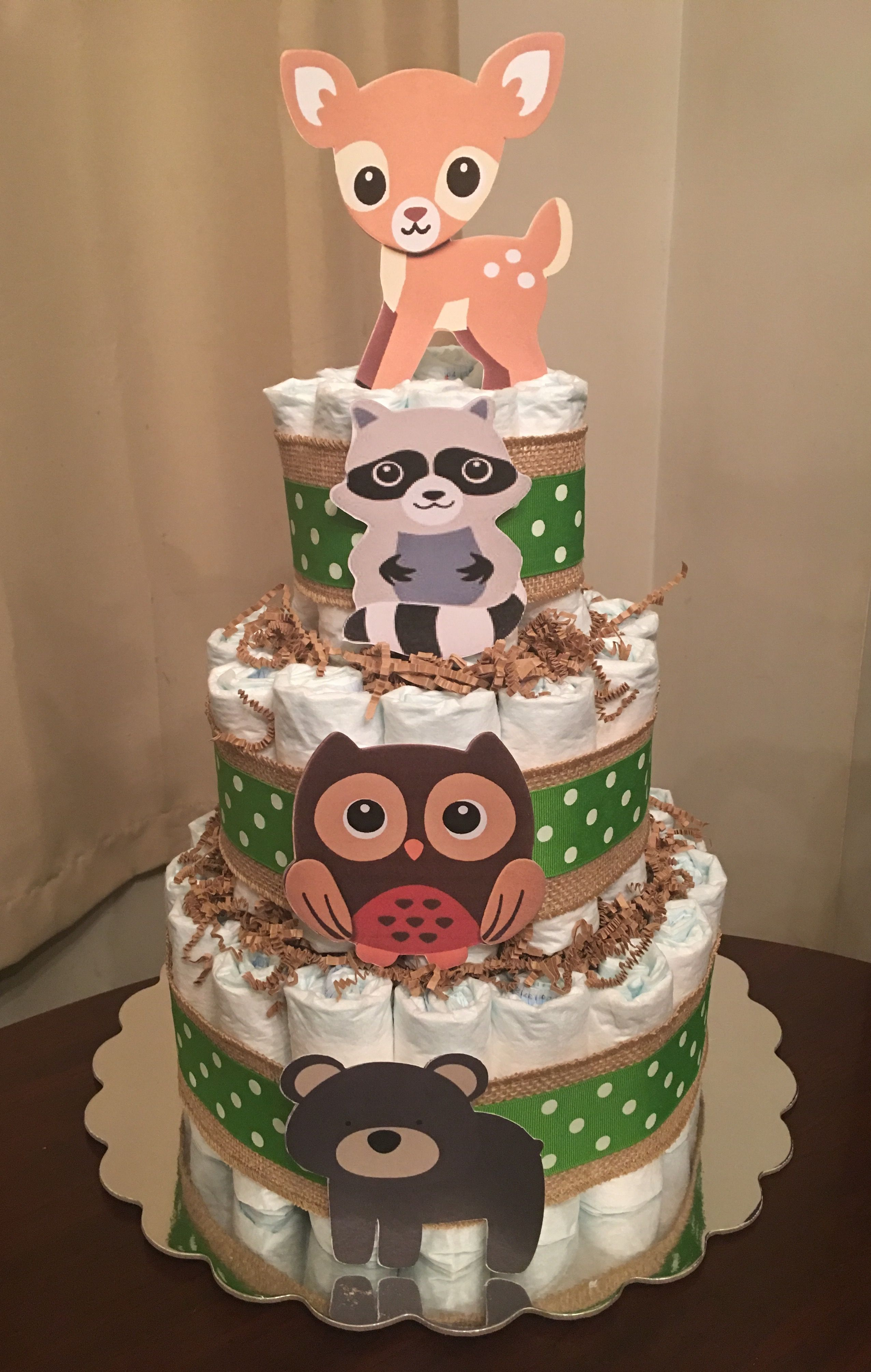 Woodland Animal Diaper Cake Things I Have Made Baby
