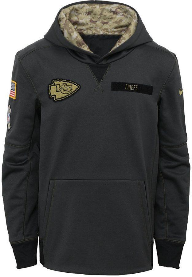 online store c3f2b f8b72 Nike Kansas City Chiefs Salute to Service Hoodie, Big Boys ...