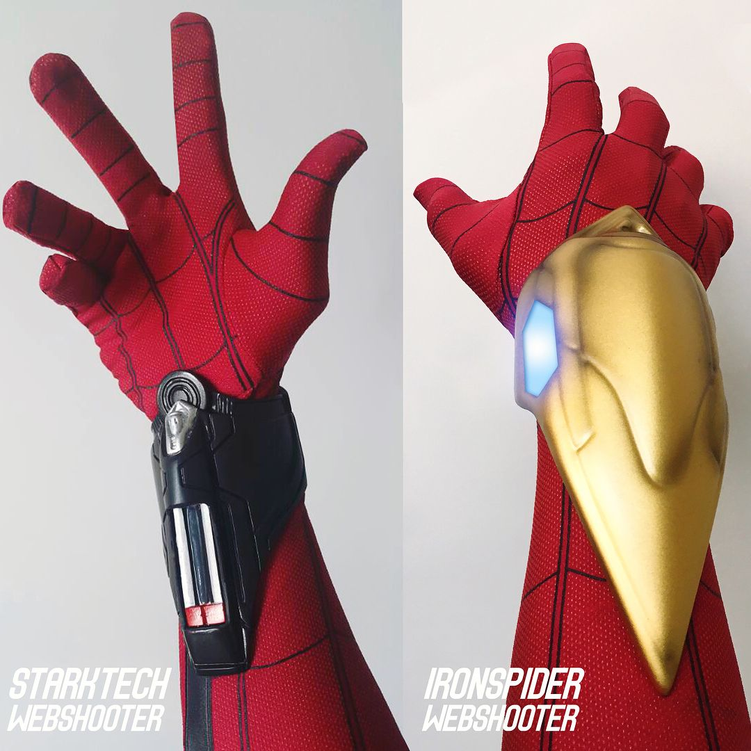 My Starktech Ironspider Webshooter Which Webshooters Do You Guys Prefer Will Update Soon For Homemadesp Amazing Spiderman Spiderman Costume Marvel Spiderman
