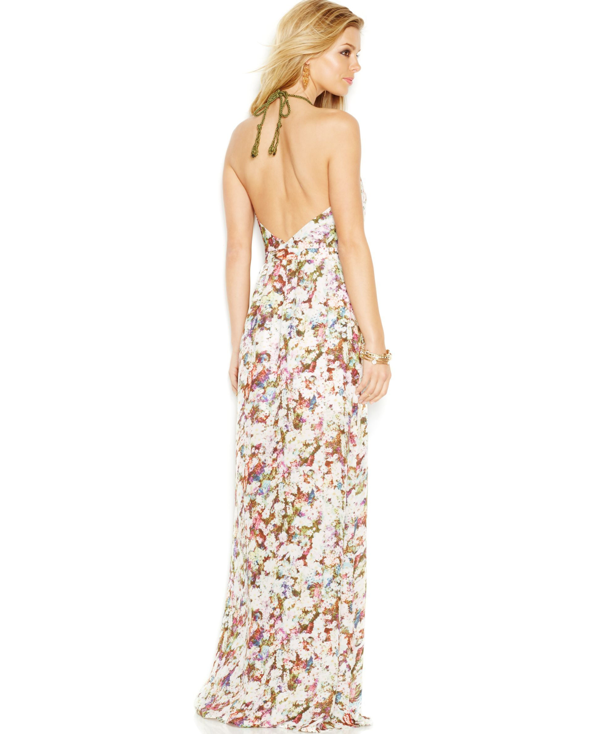 e3b0b38dabff GUESS Floral Halter Maxi Dress - Dresses - Women - Macy's | Casual ...