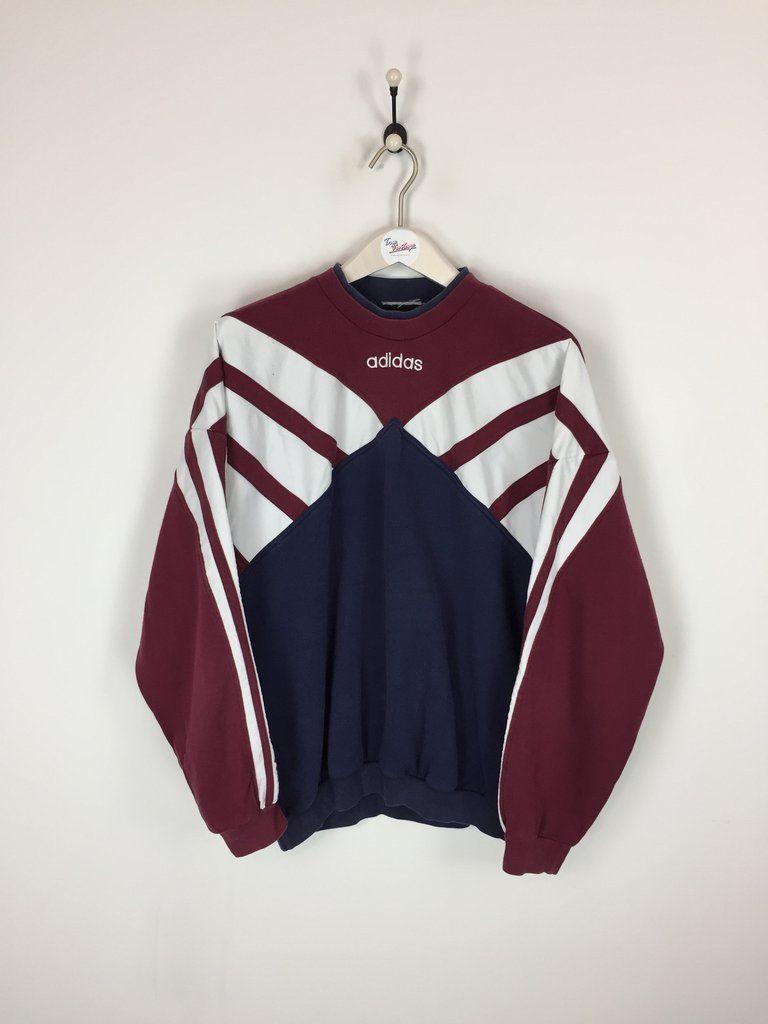 3dcaee0d109c Adidas Sweatshirt Burgundy White Navy XL