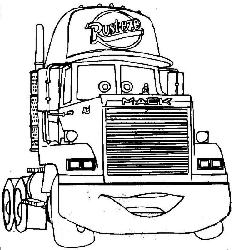 Cars Mack Coloring Pages Colorear