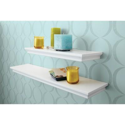 24 X 7 7 Traditional Wall Shelf White Threshold Traditional Shelves Shelves Wall Shelves