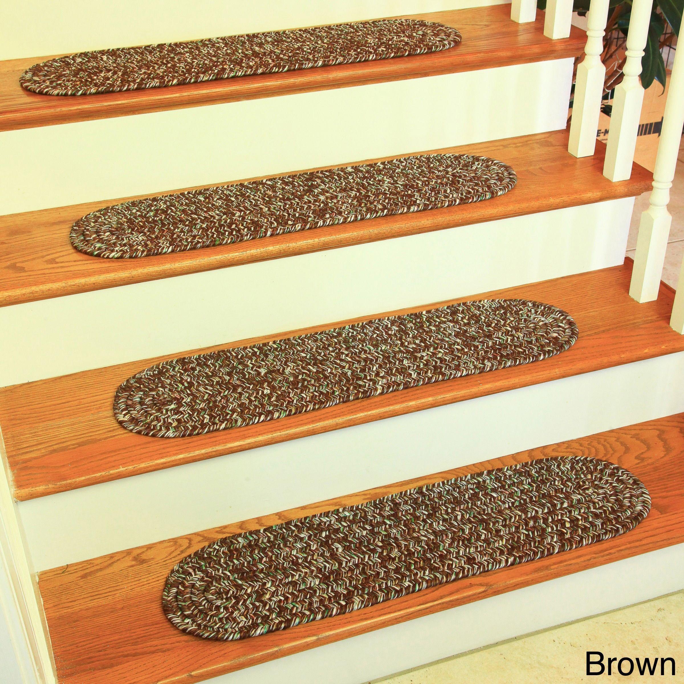 Best Rhody Rug Sandi Reversible Braided Stair Treads Set Of 4 400 x 300