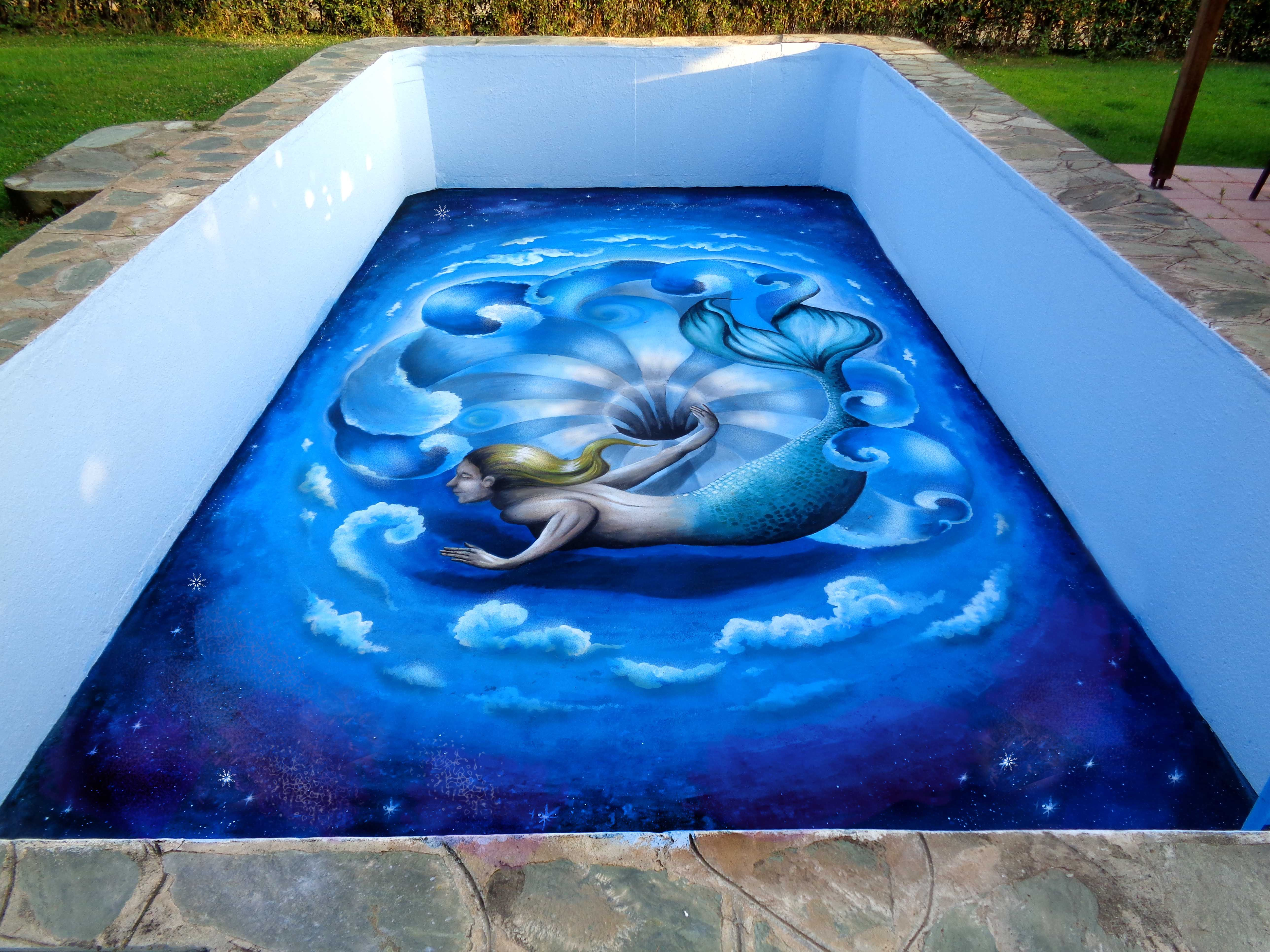 A Hole In The Water This is a swimming pool 3d painting