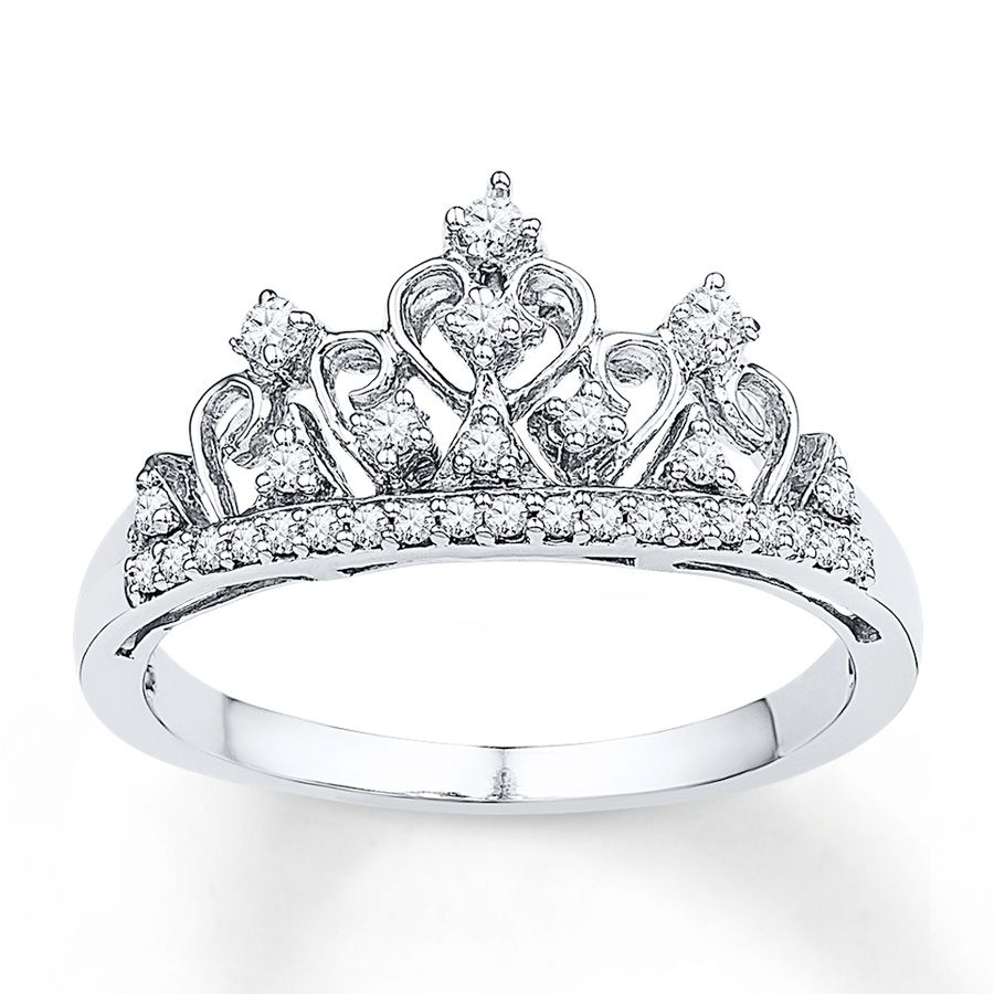 d4d265a5b Crown Ring 1/5 ct tw Diamonds Sterling Silver | My style/Pandora ...