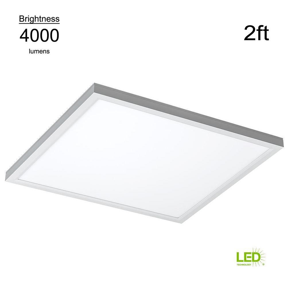 Eti Commercial Drop Ceiling 2 Ft X 2 Ft White 5000k Dimmable