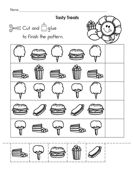 Food Pattern Worksheet 1 Crafts And Worksheets For Preschool Toddler And Kindergarten Worksheets For Kids Pattern Worksheet Preschool