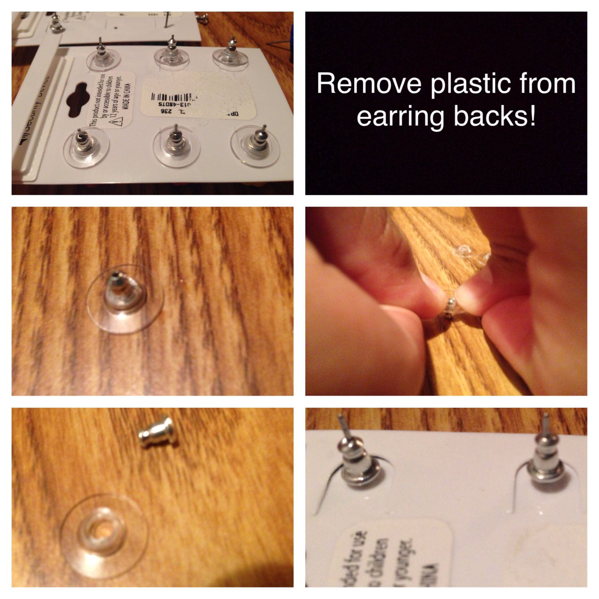 Remove Plastic From Earring Backs Clevergood To Know Pinterest