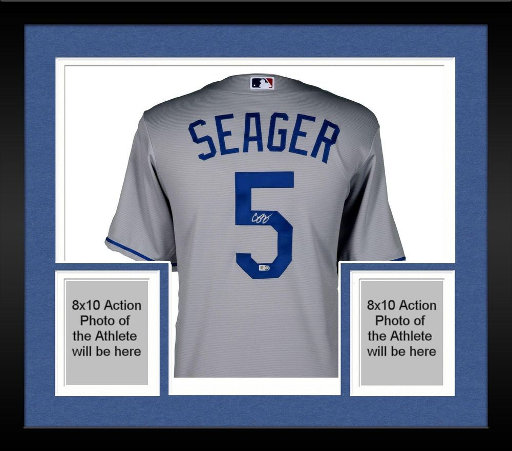 Framed Corey Seager Los Angeles Dodgers Autographed Majestic Gray Replica  Jersey 74c7f53d2