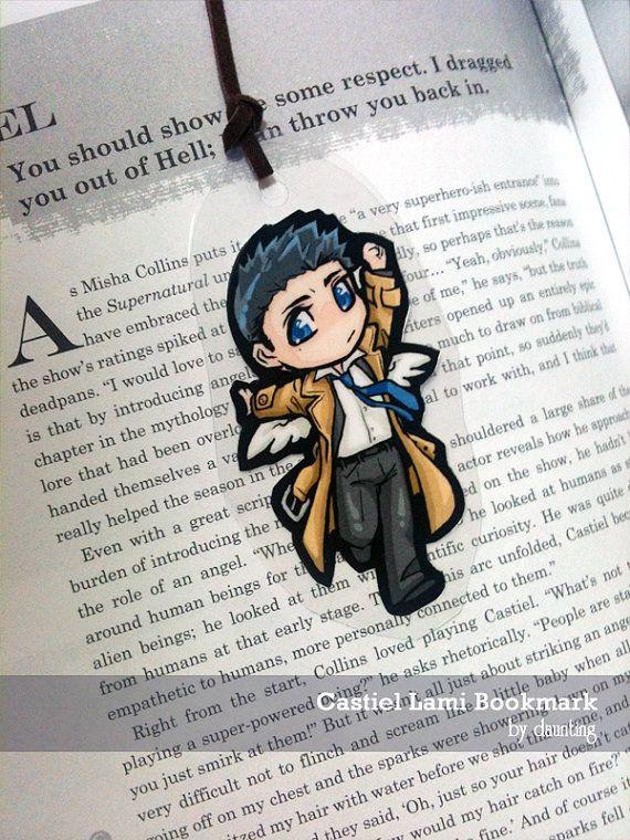 Castiel Bookmark #castiel #supernatural #handmade #bookmark #misha #collins #mishacollins #angel $3.75