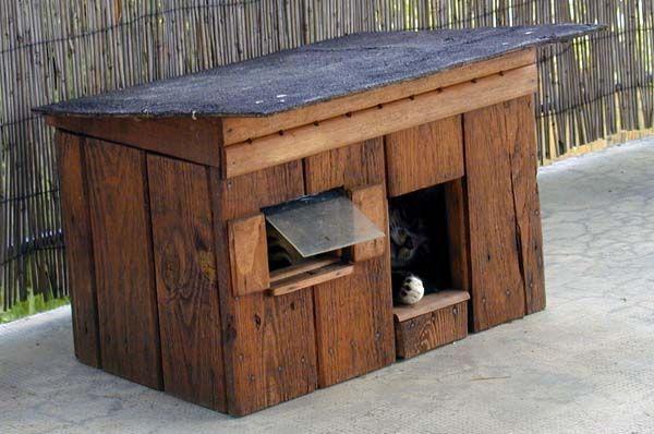 diy cr er une cabane pour chat en bois en 7 tapes. Black Bedroom Furniture Sets. Home Design Ideas