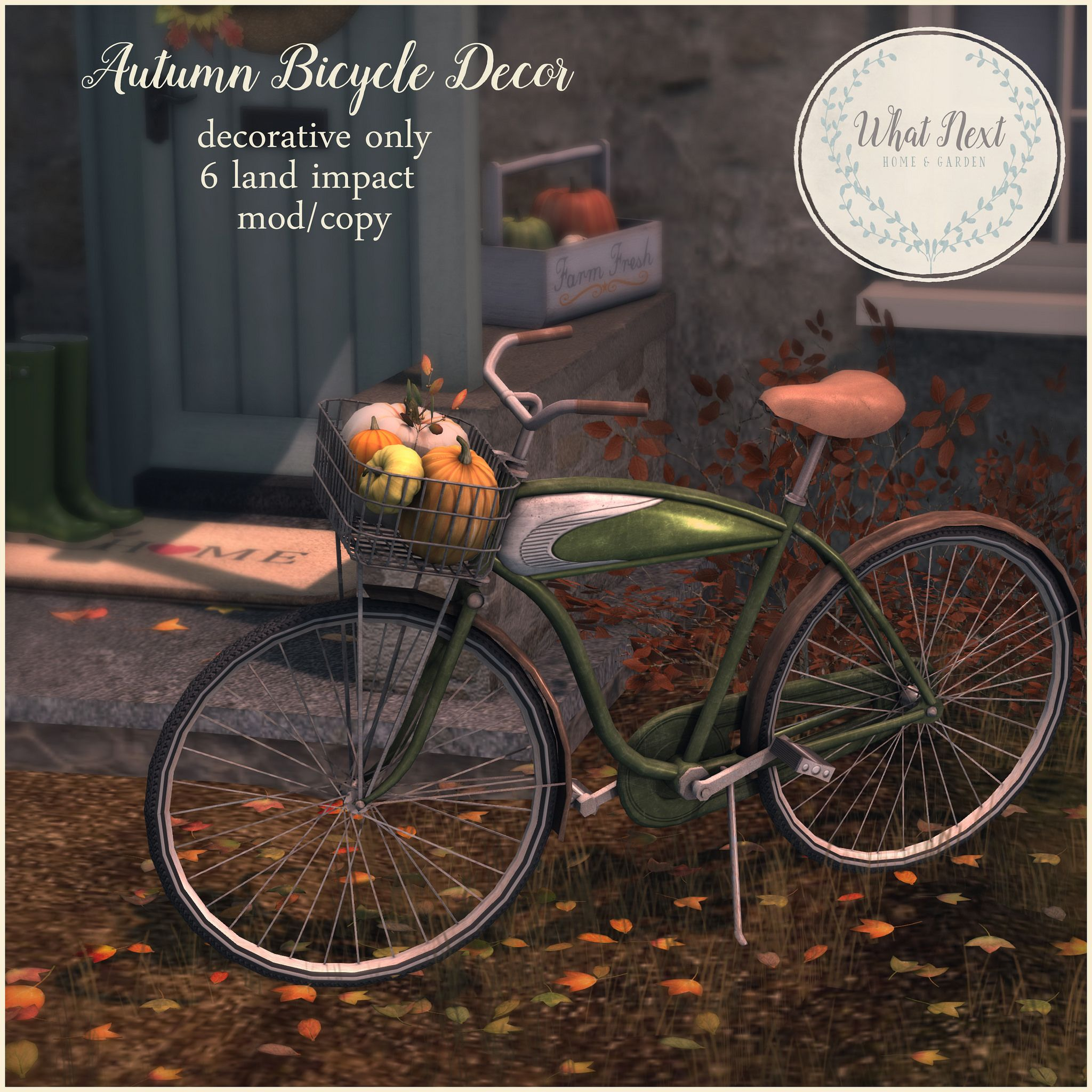 https://flic.kr/p/M2K3QS | {what next} Autumn Bicycle Decor for Collabor88 | Autumn Bicycle Decor for Oct Collabor88!