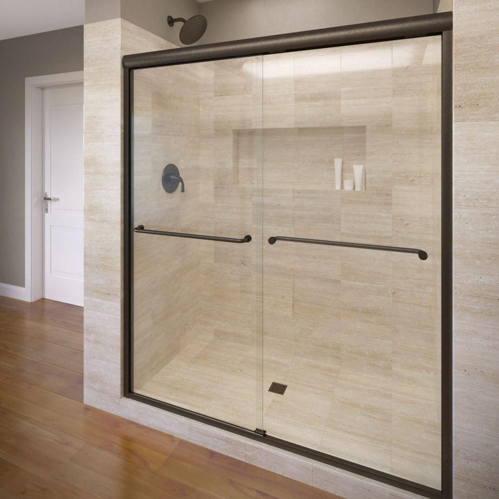 Basco Celesta 60 In X 71 1 4 In Semi Frameless Sliding Shower