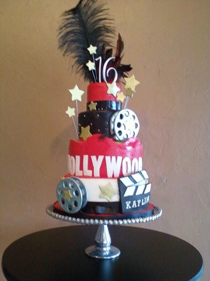 Sweet 16 Cake Hollywood Theme Birthday Cakes Movie Themed