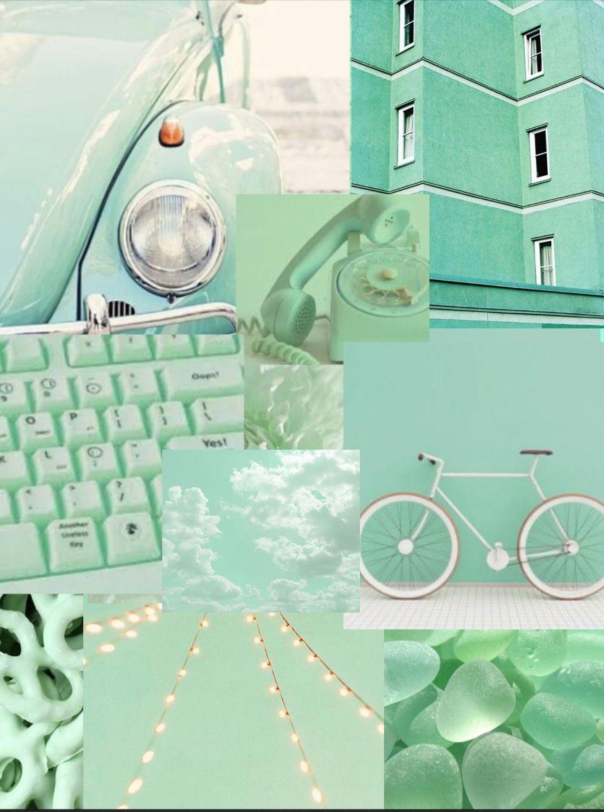 Pastel Green Aesthetic Phone Wallpaper Mint Green Aesthetic Green Aesthetic Mint Green Wallpaper Iphone