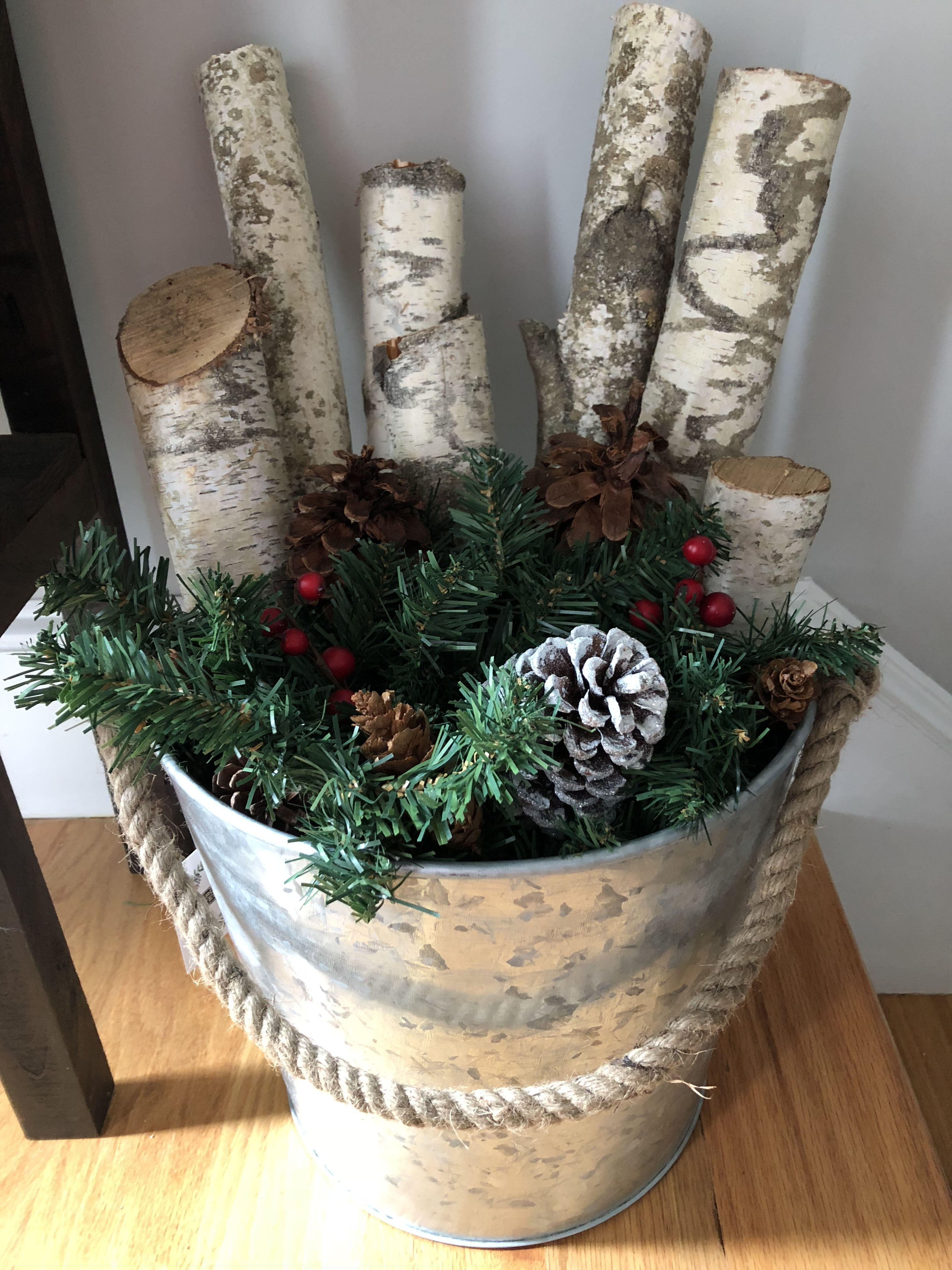 Birch Tree Christmas Decor rusticdecor rustic