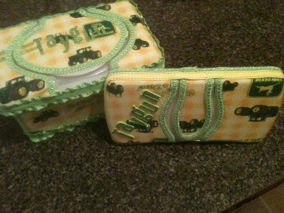 Guess you use these to pretty it up, LOL Matching John Deere Wipes ...