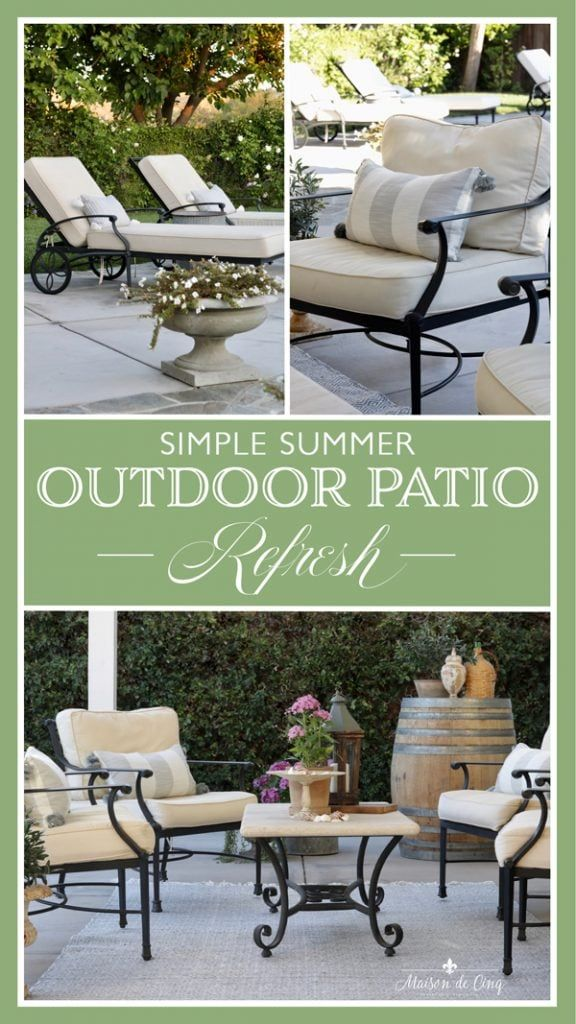 Outdoor Patio Refresh: 3 Small Changes that Made a Big ...