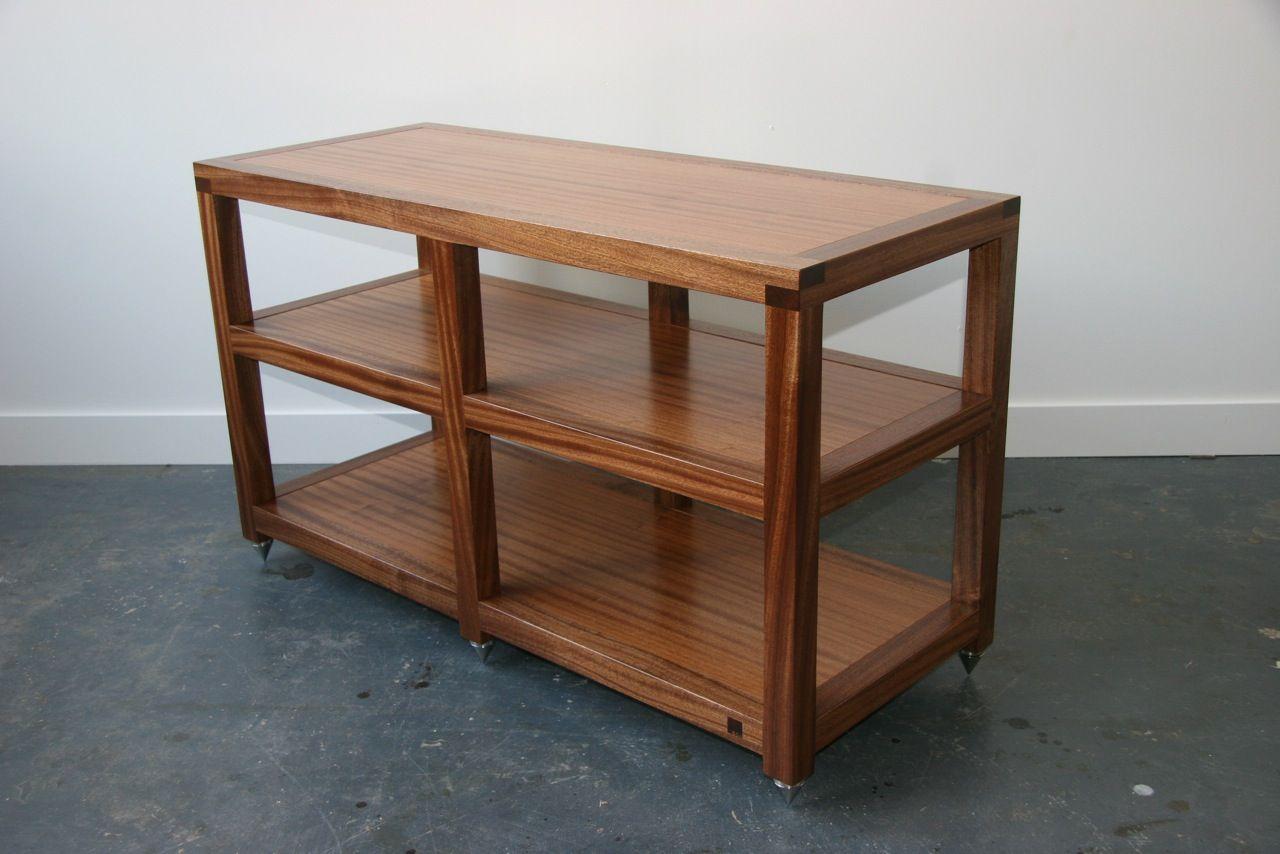 Box Furniture Co Box Furniture Heavy Double Width Hi Fi Rack  # Hifi Furniture Wood High Quality