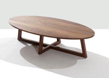 Finn Oval Coffee Table Contemporary Coffee Tables 타원형 테이블