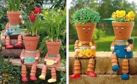 Belles Idees Recup Et Deco Pour Le Jardin Jardinage Clay Pots