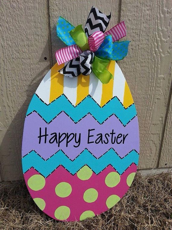 Easter Egg Door Hanger Easter Decorations Outdoor Easter Door Hanger Easter Outdoor