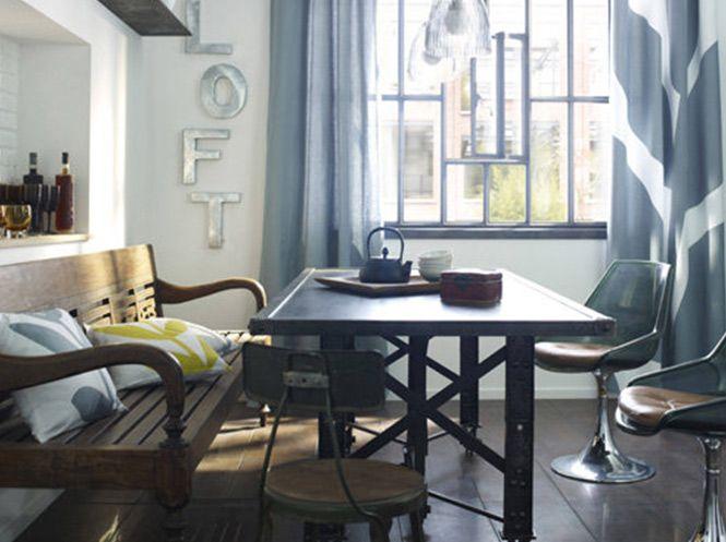 Esprit loft pour une salle à manger dans la tendance     www