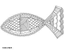 Detailed Coloring Page Christian Ichthys The Jesus Fish Is A Symbol Of Christianity