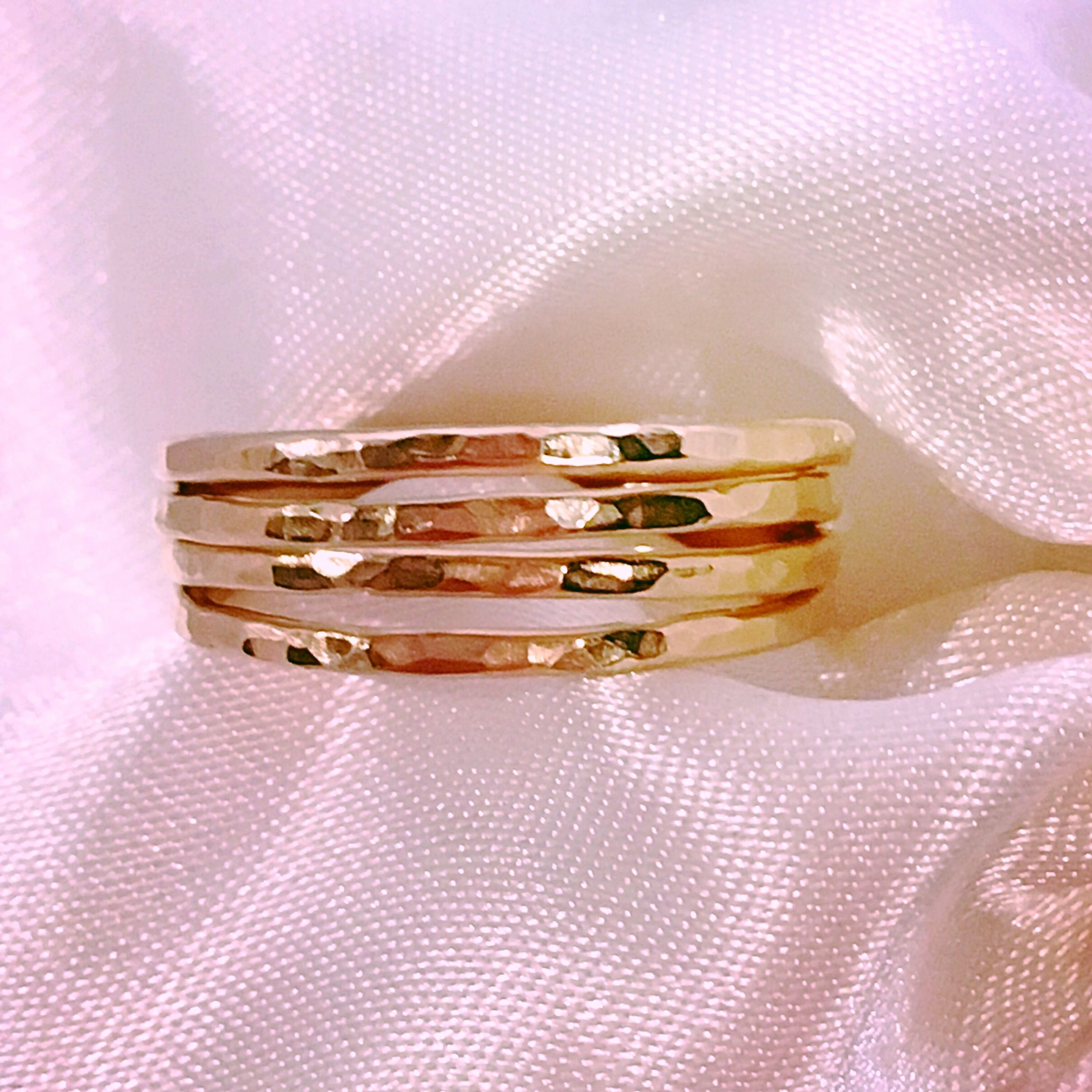Handcrafted 14ct filled gold stacking rings :) only £10 each in my ...