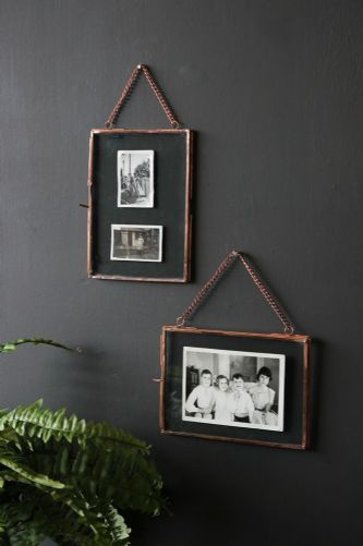 Photo Frame With Chain - Set of 2 Copper