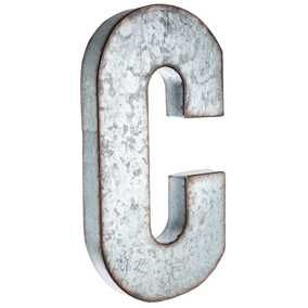 Galvanized Monogram Letters Caleb's Big Boy Room C Large Galvanized Metal Letter  Caleb P