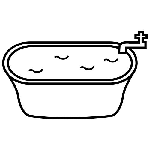 Dig into reading coloring pages ~ Bathtub: add tissue paper water and tub toy clipart (duck ...
