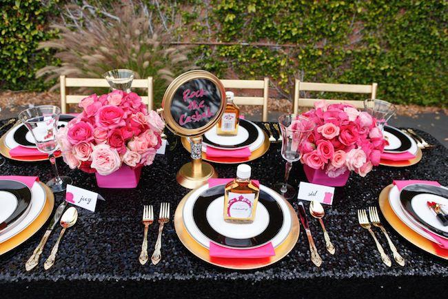Pretty In Punk Inspiration Shoot Wedding centerpieces