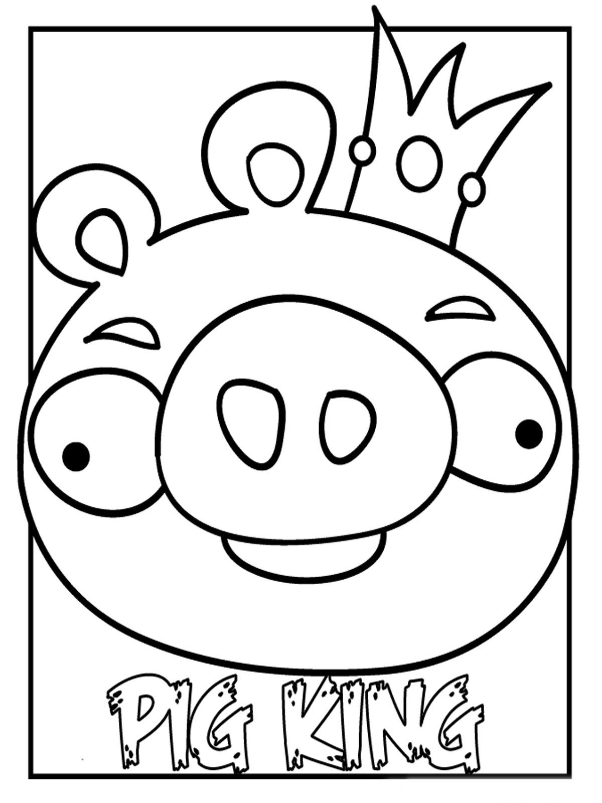 Pig King Bird Coloring Pages Angry Birds Pigs Space Coloring Pages [ 1600 x 1200 Pixel ]