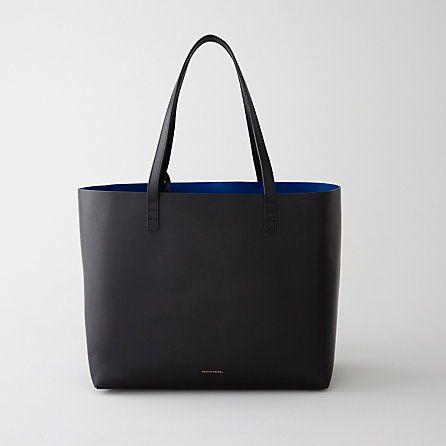 Mansur Gavriel Large Leather Tote   Womens Handbags   Steven Alan